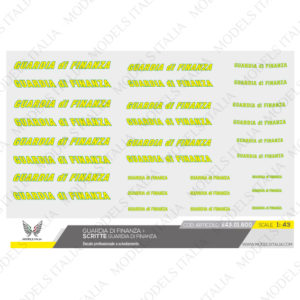 decals scritte guardia di finanza