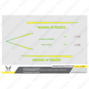 decals Volkswagen up guardia di finanza