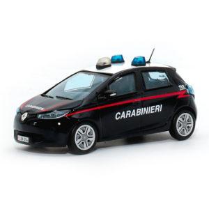 renault zoe carabinieri modellini