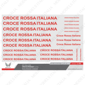 decals scritte croce rossa