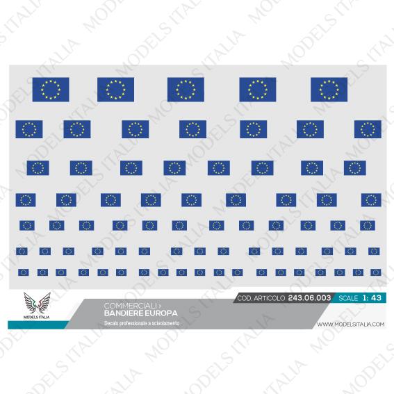 decals bandiere europa