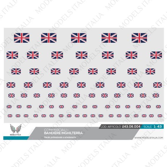 decals bandiere Inghilterra