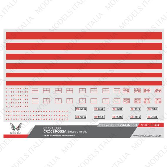 decals strisce e targhe croce rossa