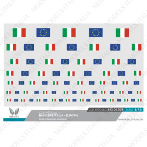decals bandiere italia - Europa