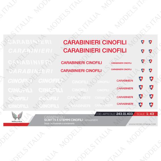 decal cinofili carabinieri