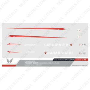 decals pegeout 308 GTI carabinieri