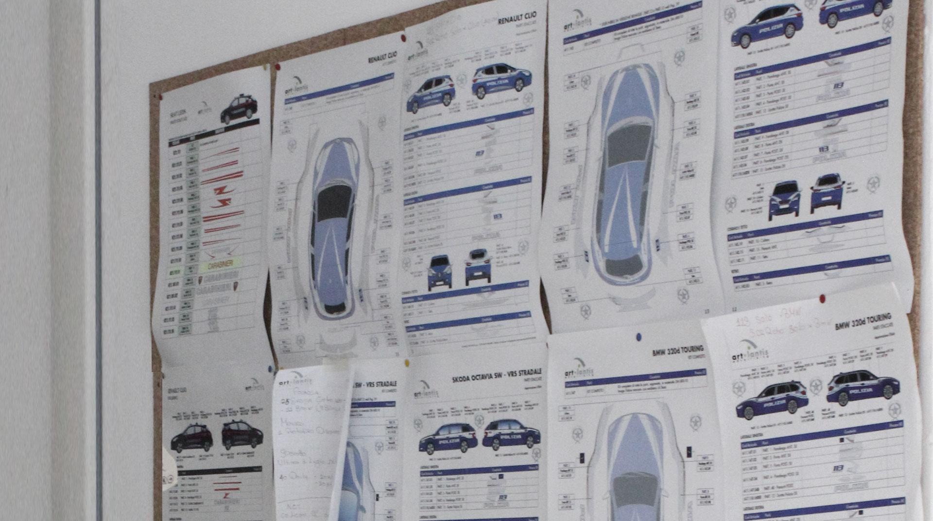 preparazione progetto modellini