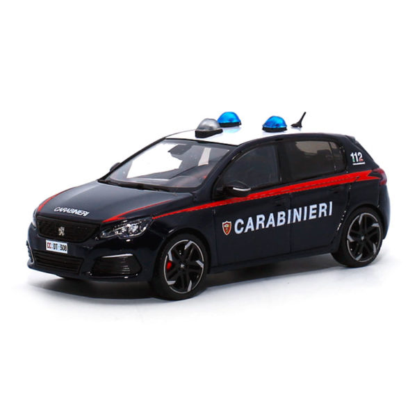 modellino peugeot 308 carabinieri