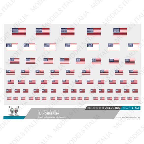 decals bandiere USA