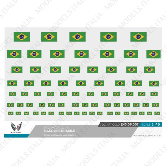 decals bandiere brasile