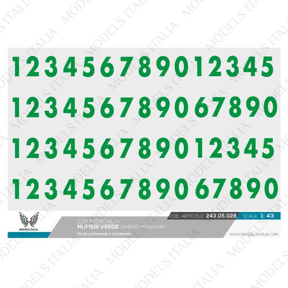 decals scritte e numeri 10 mm
