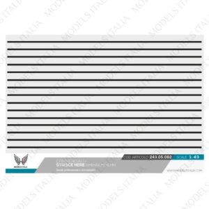 Decals strisce nere 1 mm